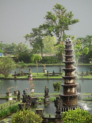 Tirta Gangga - One of the fountains in Tirta Gangga water palace