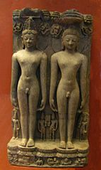 Two nude statues