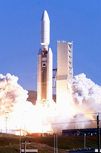 30th Operations Group - Titan IVB launching Lacrosse satellite at Vandenberg AFB