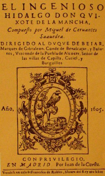 Ficheiro:Titelblatt der Erstausgabe von-Don Quijote.jpg