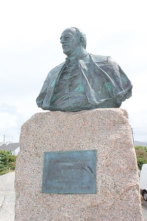 Tomás Ó Fiaich - The bust of Cardinal Ó Fiaich in Ranafast, Co. Donegal, Republic of Ireland.