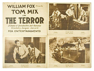 Sierra No. 3 - Lobby card for 1920 Tom Mix movie The Terror shows Sierra No. 3 in the fourth panel.