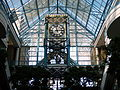 Top of clock in Portage Place shopping mall in downtown Winnipeg, Manitoba.JPG