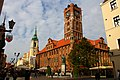 Toruń. Ratusz, pomnik M. Kopernika, kościół Akademicki. - panoramio.jpg