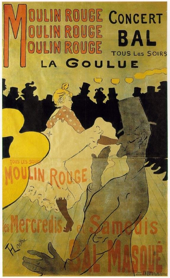 Toulouse-Lautrec - Moulin Rouge - La Goulue