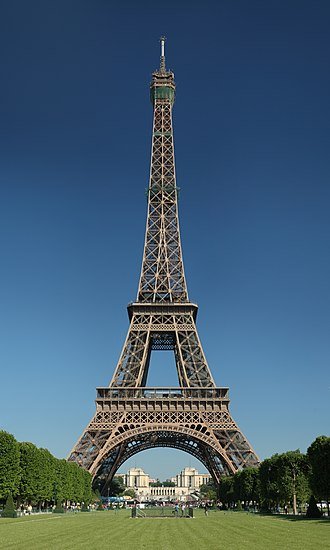 Eiffel Tower - Seen from the Champ de Mars