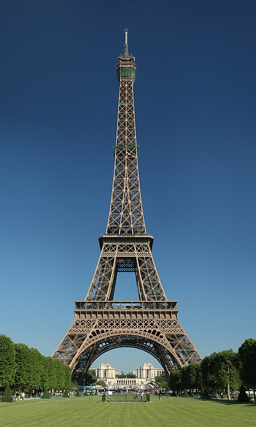 Eiffel Tower, seen from the champ de Mars, Paris, France