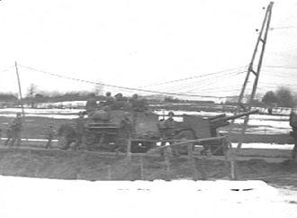 3-inch Gun M5 - 3 inch M5 pulled by a halftrack.