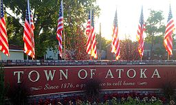 Town of Atoka Sign, Atoka, Tennessee.JPG