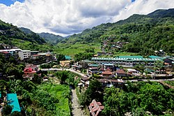 Aerial view of Banaue