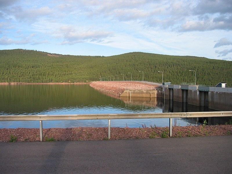 Trängslet dam reservoir