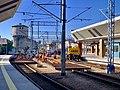 Track replacement works at Kraków Główny train station, Poland, 2019.jpg