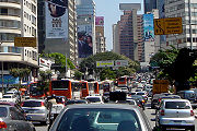 Congestionamento na Rua da Consolação.