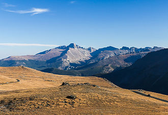 Trail Ridge Road - Image: Trail Ridge Road and Longs Peak by RO