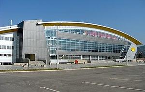 Boris Trajkovski Sports Center - Image: Trajkovskiarena side