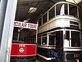 Tram Depots - National Tramway Museum - Crich - Blackpool 166 & Sheffield 189 (15197715408).jpg