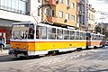 Tram in Sofia near Central mineral bath 2012 PD 037.jpg