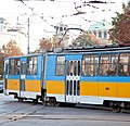 Tram in Sofia near Palace of Justice 2012 PD 023.jpg