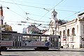 Trams in Sofia in front of Central Market Hall 2012 PD 04.JPG