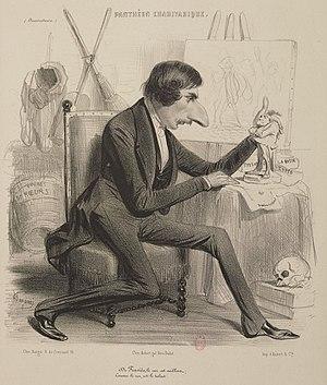 Charles-Joseph Traviès de Villers - Image: Traviès de Villers, caricature by Benjamin Roubaud