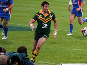 Trent Waterhouse - Waterhouse playing for Australia in 2009