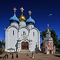 Trinity Lavra 06-2015 img4 Assumption Cathedral and water well.jpg