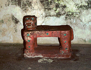 Jaguars in Mesoamerican cultures - Kukulcan's Jaguar Throne, from the Maya site of Chichen Itza