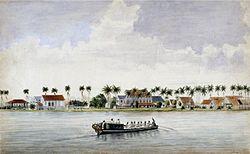 Tropenmuseum Royal Tropical Institute Objectnumber H-3421 Aquarel voorstellende woningen van suik.jpg