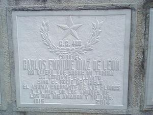 Carlos Enrique Díaz de León - Tomb of Carlos Enrique Díaz de León