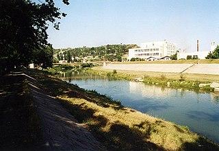 Arieș tributary of Mureș River in Transylvania, Romania