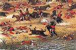 פרט מתוך ציור של הצייר קנדידו לופז, המתאר את קרב טויוטי, אחד הקרבות העקובים מדם במלחמה