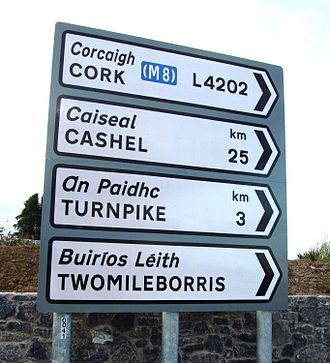 Local roads in Ireland - L4202 local road sign.