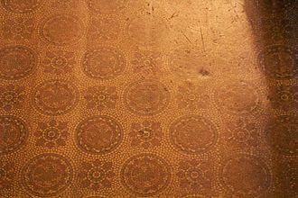 Linoleum - Early linoleum at Tyntesfield.