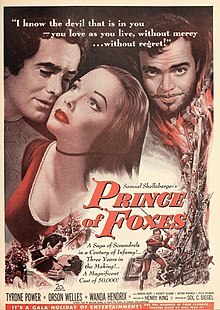 Description de l'image Tyrone Power in 'Prince of Foxes', 1950.jpg.