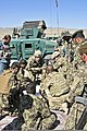 U.S. Army Brig. Gen. Gary Volesky, center, the deputy commanding general for maneuver of the 1st Cavalry Division, discusses strategy for Operation Shamshir with U.S. Soldiers, Afghan National Army soldiers 111019-A-ZU930-006.jpg