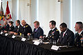 U.S. Army Gen. Raymond T. Odierno, fourth from left, the chief of staff of the Army; National Football League (NFL) Commissioner Roger Goodell, fourth from right; and a panel retired NFL players and Soldiers 120830-A-AO884-135.jpg
