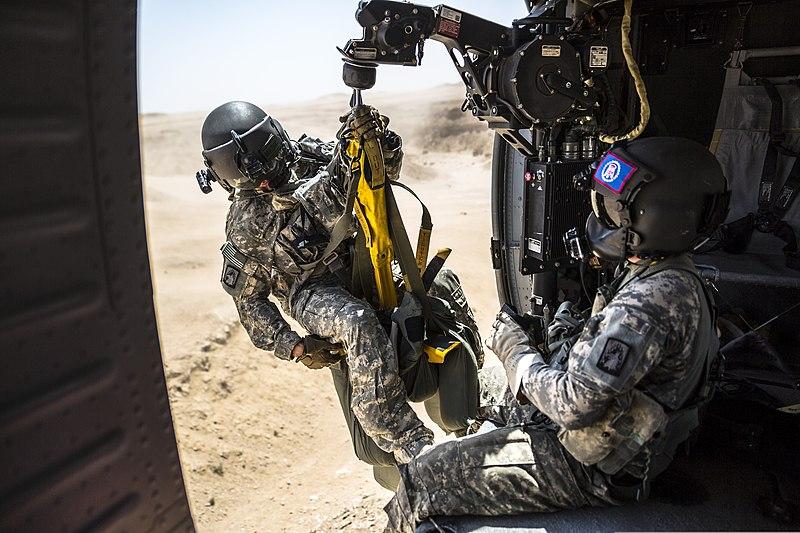 File U S Army Spc Nicholas Mouyos A Flight Medic Is On