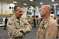 U.S. Marine Corps Brig. Gen. Charles G. Chiarotti, left, the deputy commander of Marine Forces Africa and Marine Forces Europe, talks with Lt. Col. Brian Smith Jr., the commanding officer of Marine Medium 120416-M-FR139-006.jpg