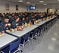 U.S. Navy recruits eat lunch inside the USS Triton recruit barracks' galley at Recruit Training Command at Naval Station Great Lakes, Ill 121031-N-IK959-323.jpg