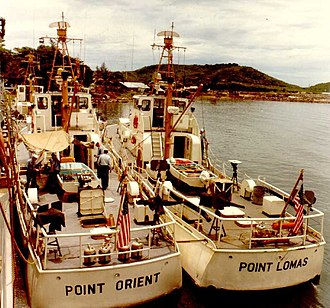 USCGC Point Orient (WPB-82319) - Image: USCG 82 foot cutters at Da Nang 1965 07 24 2