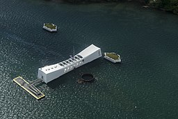 USS Arizona Memorial is on display during Secretary of Defense Ash Carter's visit to Pearl Harbor, Hawaii, Sept. 30, 2016.jpg