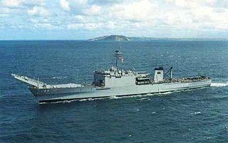 USS <i>San Bernardino</i> (LST-1189) Newport-class tank landing ship