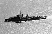 USS Shaw DD-373 aerial 1942