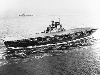 USS Wasp (CV-7) - Image: USS Wasp (CV 7) entering Hampton Roads on 26 May 1942