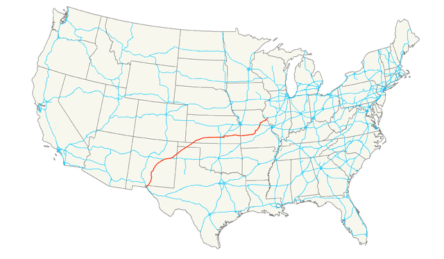 US Route Wikiwand - Us 54 el paso map