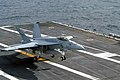 US Navy 021029-N-7267C-001 F-A-18E makes an arrested landing aboard USS Carl Vinson.jpg