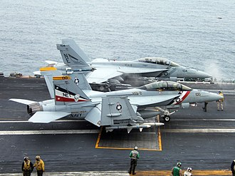 VFA-2 - Image: US Navy 050714 N 0000I 004 F A 18F Super Hornets prepare to launch from the flight deck aboard the USS Abraham Lincoln (CVN 72)