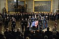 US Navy 061230-D-1142M-002 Members of the Armed Forces Honor Guard stand at attention after placing the casket of former President Gerald R. Ford in the Rotunda of the U.S. Capitol, Dec. 30, 2006.jpg