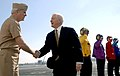 US Navy 070222-N-9475M-011 Commander, Fleet Forces Command, Adm. John Nathman, greets the Honorable Secretary of Defense (SECDEF), Robert M. Gates, aboard USS Harry S. Truman (CVN 75) for an official visit and tour.jpg