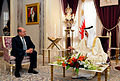 US Navy 081124-N-5549O-022 Secretary of the Navy the Honorable Dr. Donald C. Winter visits with King of Bahrain.jpg
